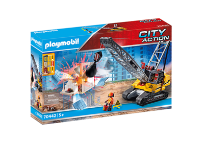 Playmobil 70442 Cable Excavator with Building Section