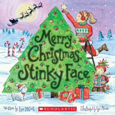 Scholastic Merry Christmas Sticky Face Board Book
