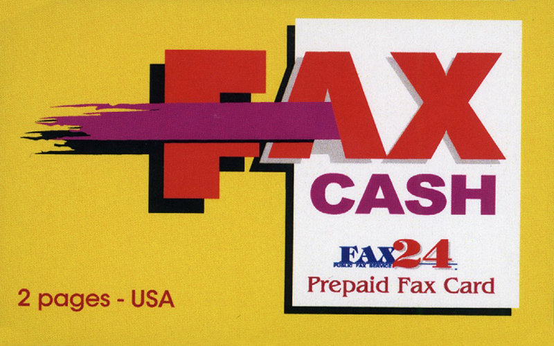 2 Page USA Fax Cash Card