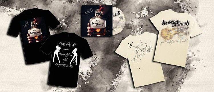 """Deluxe Bundle: """"Coffee, Whiskey & Rock'n Roll"""" T-Shirt + """"Taste It"""" T-Shirt & CD"""
