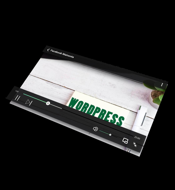 Ennakkotilaa - Tee WordPress kotisivut itse pienellä budjetilla video