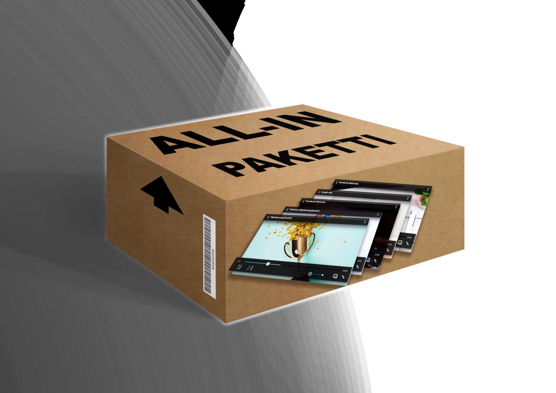 Ennakkotilaa ALL-IN Super ohjevideopaketti. Kaikki sisällöt yhdessä toimituksessa,