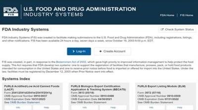 FDA Prior Notice Web Entry