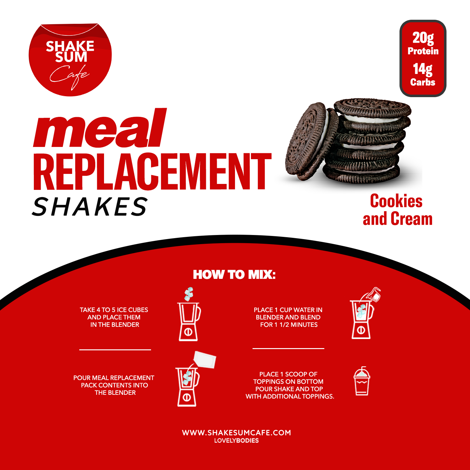 Shake Sum Meal Replacement Single - Cookies & Creme