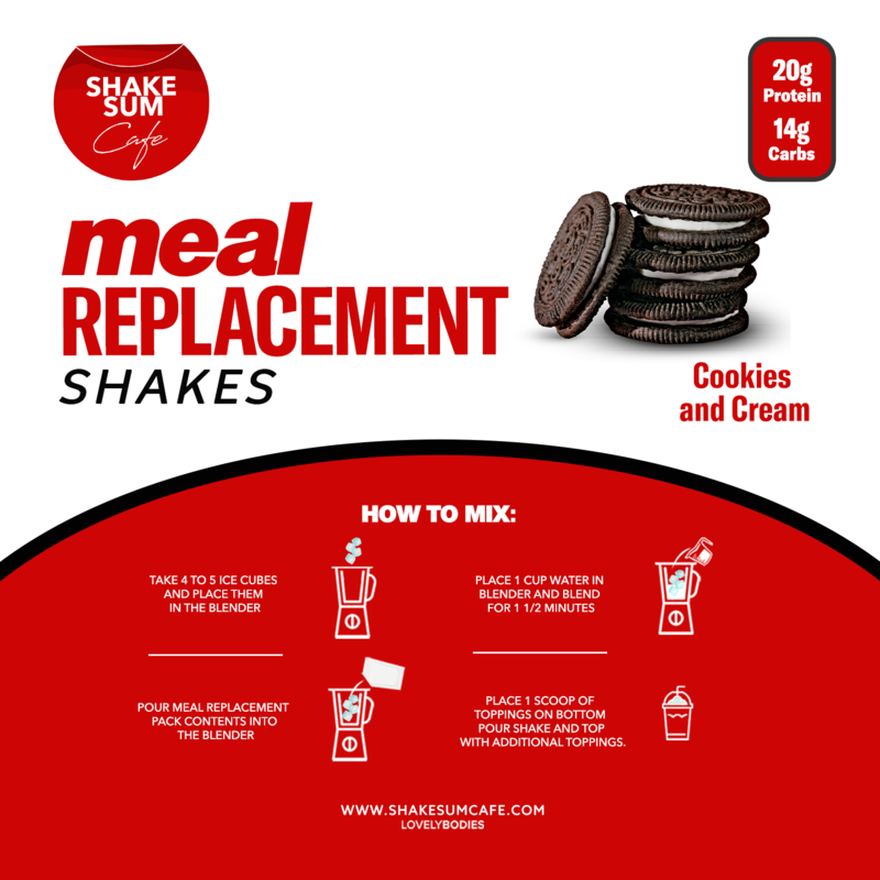 Shake Sum Meal Replacement Pack - Cookies & Creme