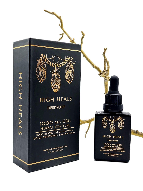 High Heals - 1000 MG - CBG Deep Sleep Tincture