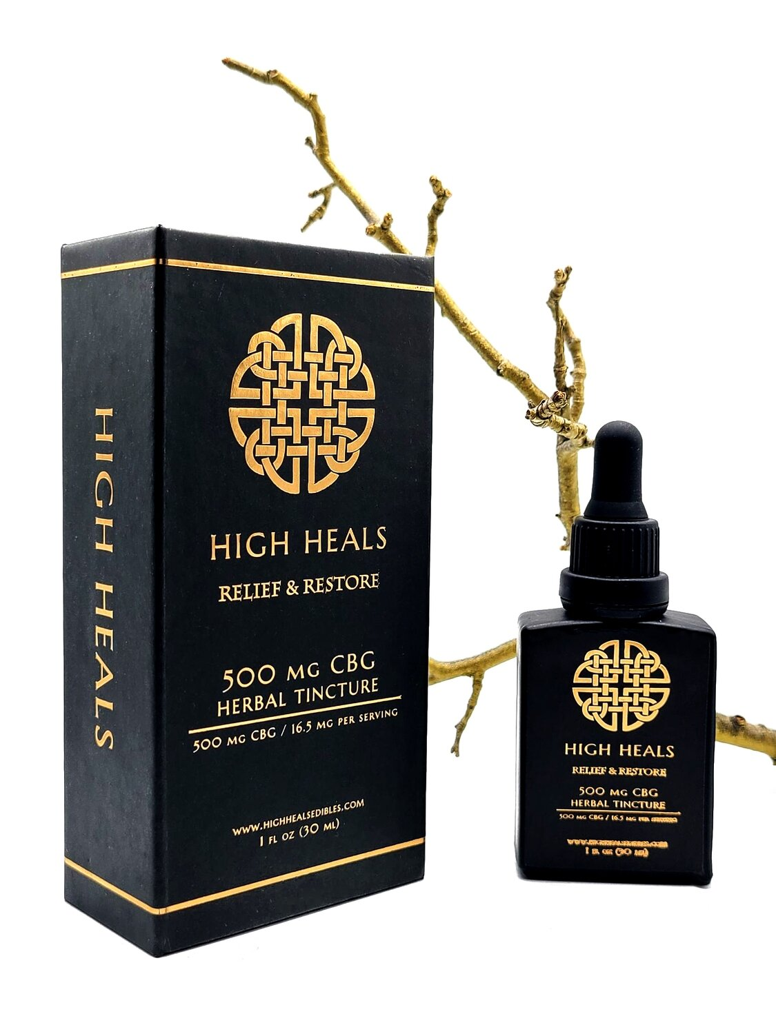 High Heals - 500 MG - CBG Relief and Restore Tincture