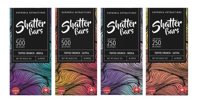 Euphoria Extractions Toffee Crunch Shatter Bar