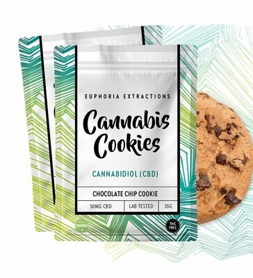 Euphoria Extractions Shatter Chocolate Chip Cookie - 50MG CBD
