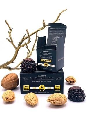 High Heals Truffles - 100 mg or 400 mg THC - Dark Bliss