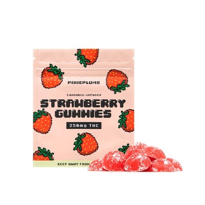 Pixieplums Strawberry Gummies - 250 MG