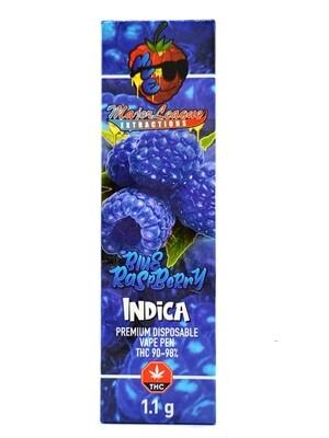 Major League Extractions – 1.1 G Disposable Vape Pen -  Blue Raspberry