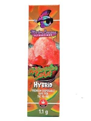 Major League Extractions – 1.1 G Disposable Vape Pen - Watermelon Sorbet