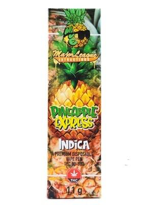Major League Extractions – 1.1 G Disposable Vape Pen - Pineapple Express
