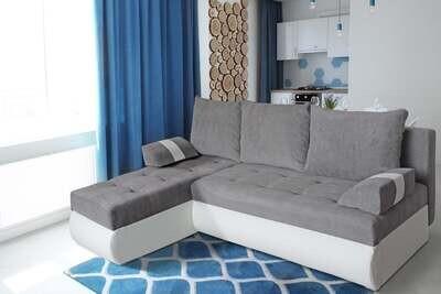 Comfortable and  quality corner sofa - GINO (White)