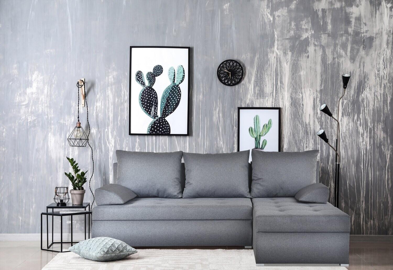 Corner Sofa Bed - GREY MALMO