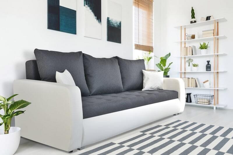 3 seater white and grey stylish sofa bed - ROXI 3