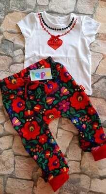 Egyedi kézzel festett gyöngyös gyerek póló