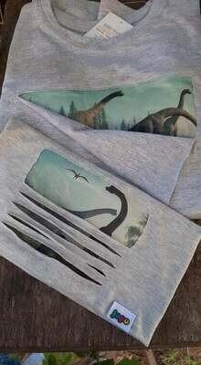 Egyedi dinós póló
