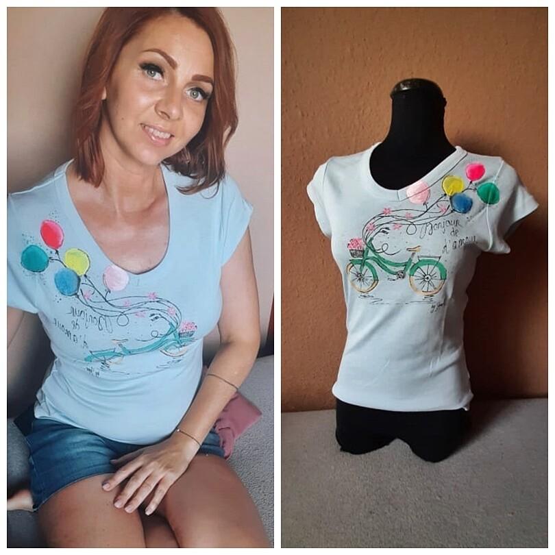 Kézzel festett egyedi póló