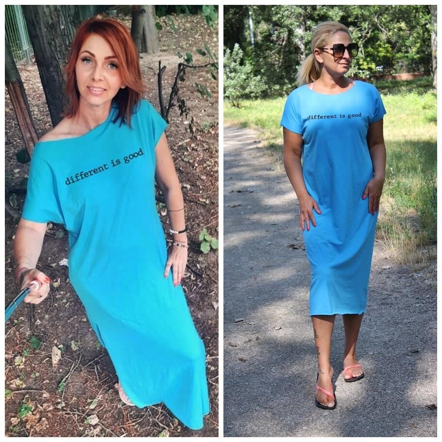 Different is good francia kék ruha