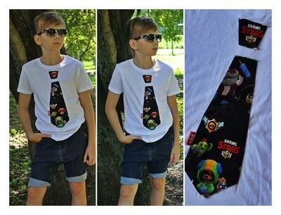 Brawl Stars nyakkendős póló