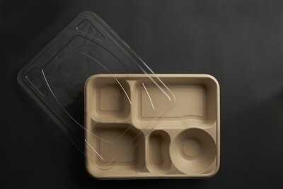 5-Compartment Tray /Thali with Lids (200 pcs)