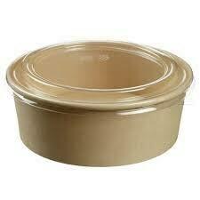 1300ml Bamboo Fiber Bowl with Lids | 300 pcs Set