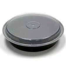"""7"""" Round Microwaveable Take Out Container 24 oz   150 Set"""