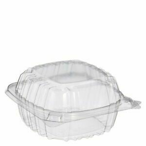 """Clear 5"""" Hinged Clear Containers 