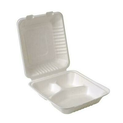 3-Compartment Clamshell Container 9'' | 200pc