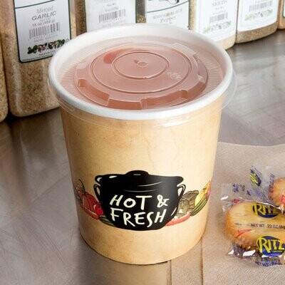 24oz Paper Soup Cups | 500 pcs