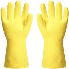 Kitchen Gloves Yellow   12 pairs per bag