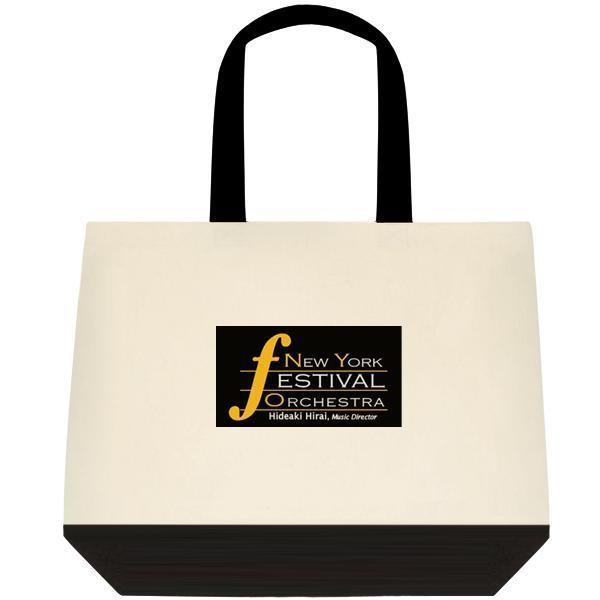 Dual-tone Tote Bag with NYFO logo