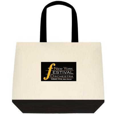 Dual-tone Tote Bag with NYFO logo