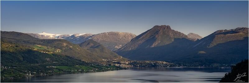 Gloppefjorden panorama