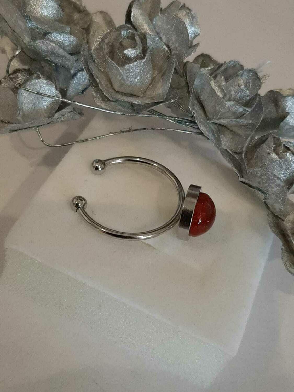 """""""Forever"""" -  Adjustable Ring Large Bezel Base 8mm"""