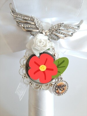 """""""Missed"""" - Angel Wing Bouquet Pin"""