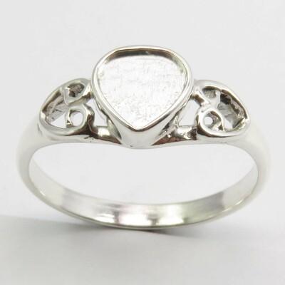 """Forever"" -  Sterling Silver Heart  Ring"