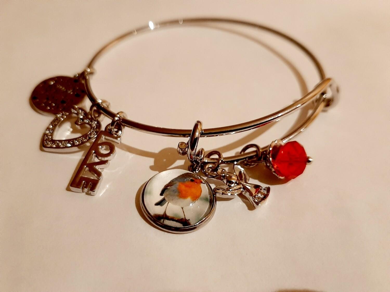 Robin Charm Bracelet