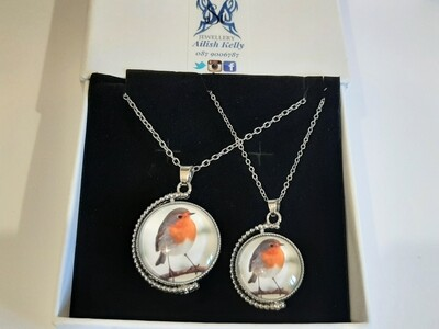 Mother and Daughter Rotation Pendant Set