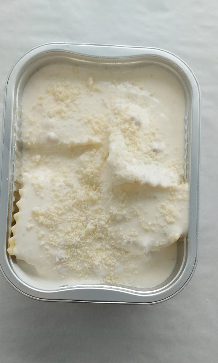 Ravioli ricotta épinard crème jambon