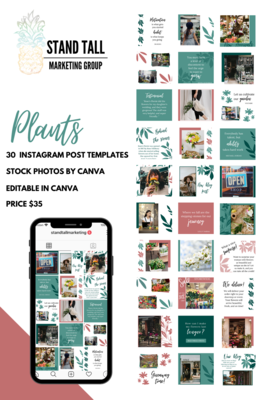 Plants Theme Social Media Post Template