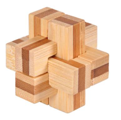 Rompecabezas 3D de madera (3 Dificultades)