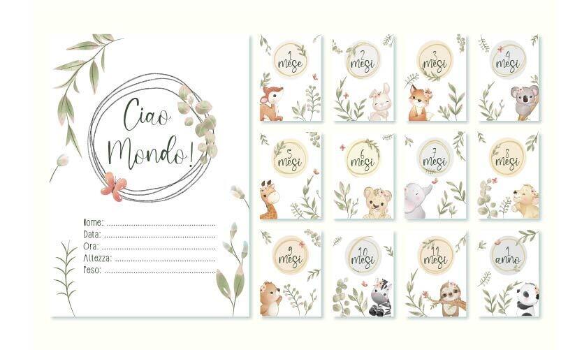 """Baby Card """"I MIEI PRIMI 12 MESI"""""""