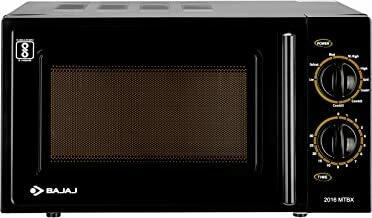 Bajaj 20 Litres Grill Microwave Oven with Mechanical Knob (MTBX 2016, Black)