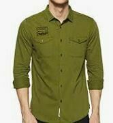 Solid Olive Full Sleeves