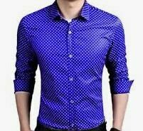 Dotted Blue Shirt