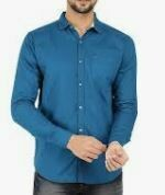 Blue Shade Casual Shirt, Full Sleeves