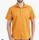Orange Half Sleeves Casual Shirt